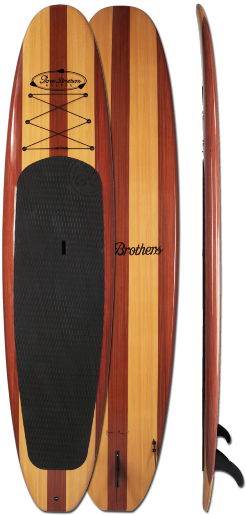 Alley Designs Stand Up Paddle Boards : Handshaped wood stand up paddle boards three brothers